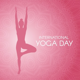 Gradient international day of yoga illustration