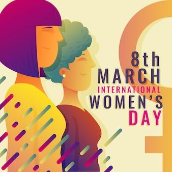 Градиент международный женский день