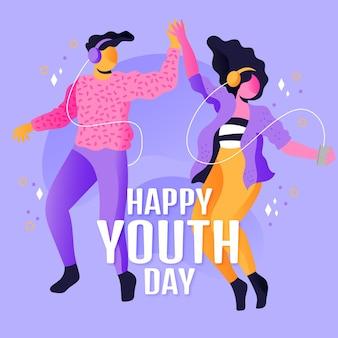 Gradient international youth day illustration