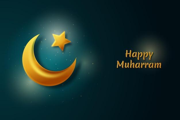 Gradient islamic new year background