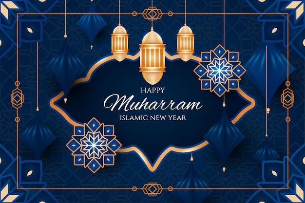 Gradient islamic new year illustration