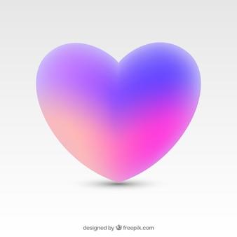 Градиент изолированный фон сердца