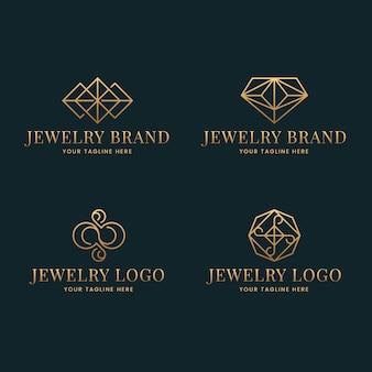 Коллекция логотипов градиентных украшений