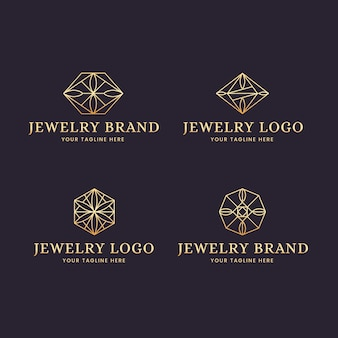 Gradient jewelry logo collection