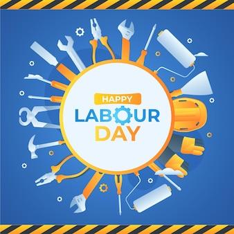 Gradient labour day illustration