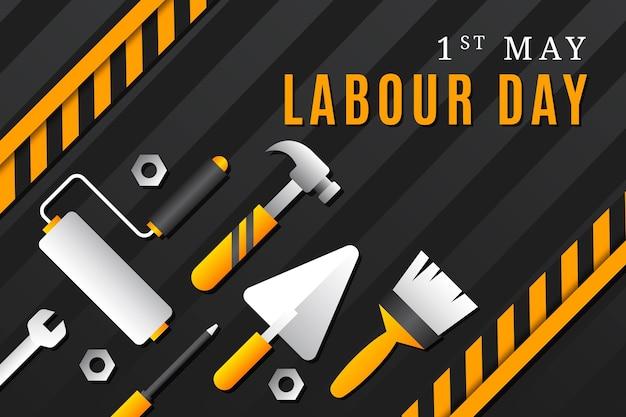 Illustrazione gradiente della festa del lavoro