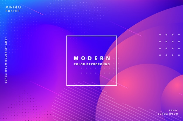 Gradient landing page tempalte awesome modern