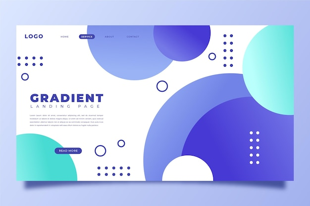 Gradient landing page