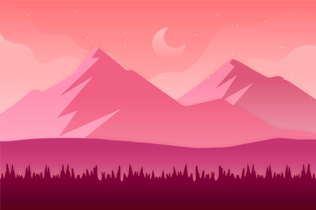 Gradient landscape design background
