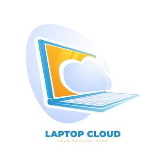그라데이션 노트북 로고 템플릿