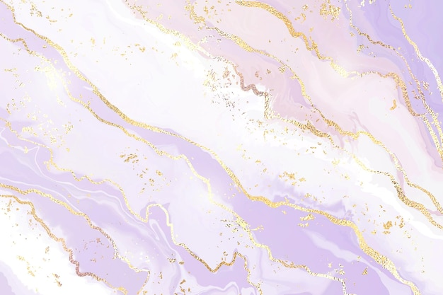 Gradient lavender liquid marble or watercolor background with glitter foil textured stripes