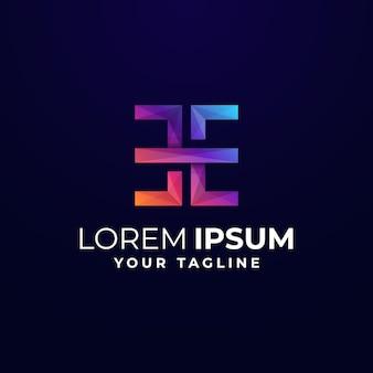 Gradient letter e logo template