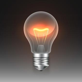 전기가 있는 그라데이션 전구