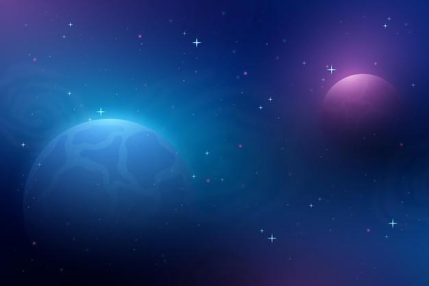 그라데이션 빛 은하 배경