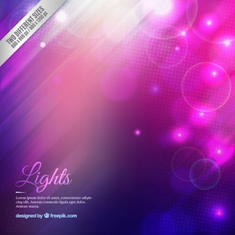 Gradient lights background in purple and pink tones