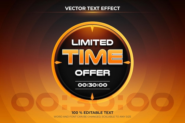 Gradient limited time offer sale banner