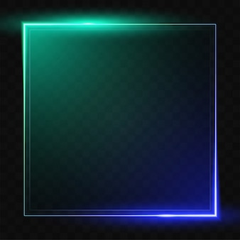 Gradient line vector design from green to blue. blank square banner design.