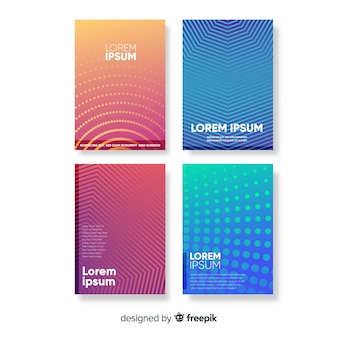 Gradient lines brochure collection