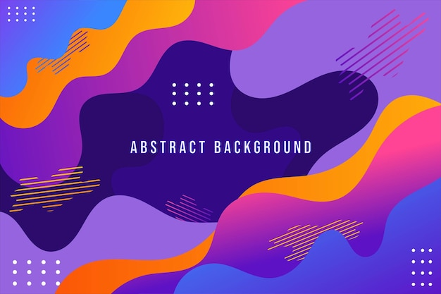 Gradient liquid abstract background design