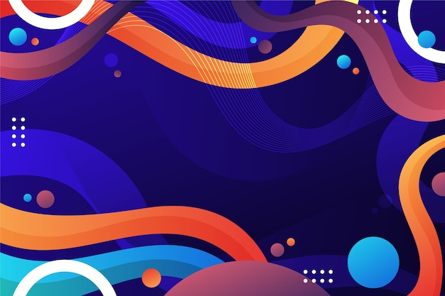 Gradient liquid abstract background