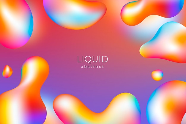 Gradient liquid abstract background