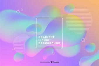グラデーション液体の背景