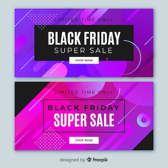 Gradient liquid black friday banners