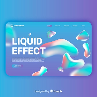 Gradient liquid effect landing page