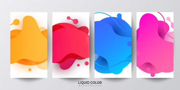 Gradient liquid gradient geometric shapes background.