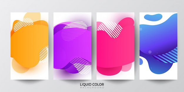 Gradient liquid gradient shapes background.