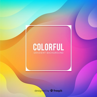 Gradient liquid shapes background