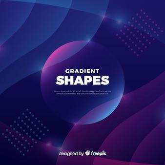 Gradient liquid shapes background