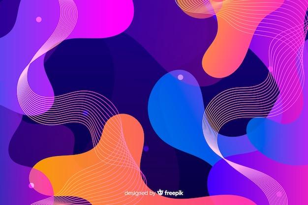 Gradient liquid shapes effect background
