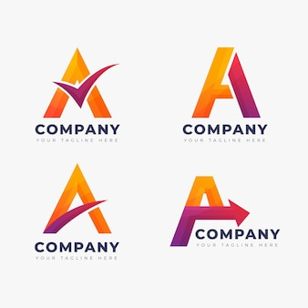 Gradient a logo template set