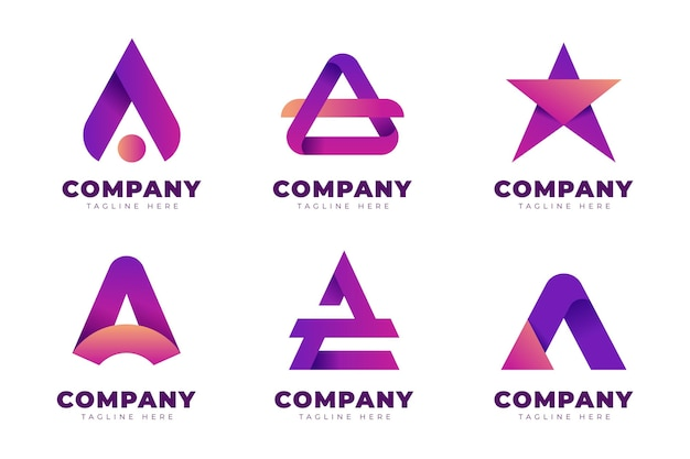Gradient a logo template set