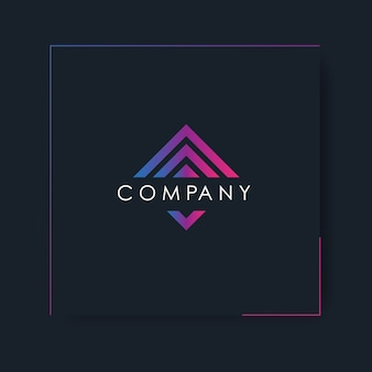 Gradient logo template with abstract modern design