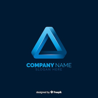 Gradient logo template with abstract shape