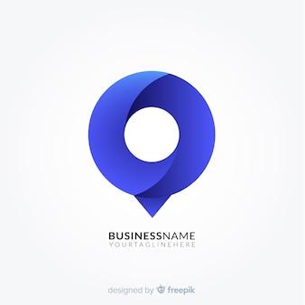 Градиент логотип с абстрактной формой