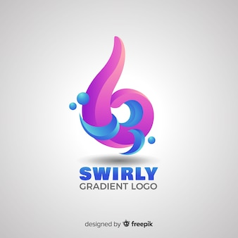 Gradient logo with abstract shape