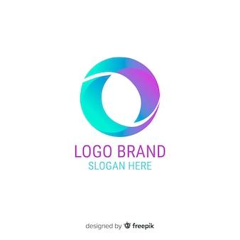 抽象的な形をしたグラデーションロゴ