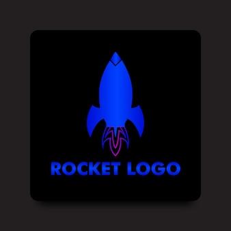 Градиентный логотип с символом ракеты