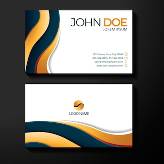 Gradient luxury business cards template
