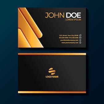 Gradientluxury business cards template
