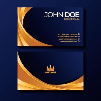 Gradient luxury business cards