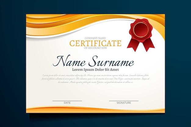 Gradient luxury certificate Free Vector