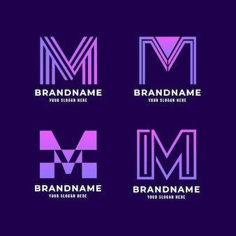 Gradient m logo collection