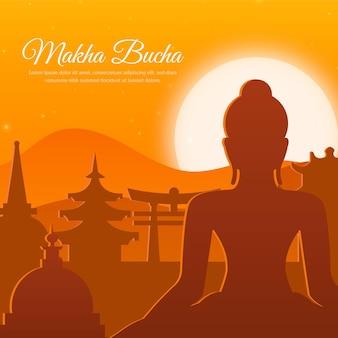 Illustrazione di giorno di makha bucha gradiente
