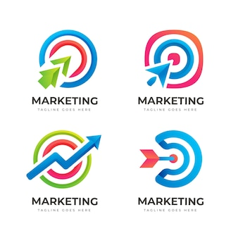Gradient marketing logo collection