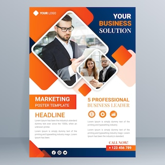 Gradient marketing poster template