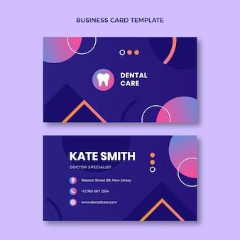 Gradient medical business card horizontal
